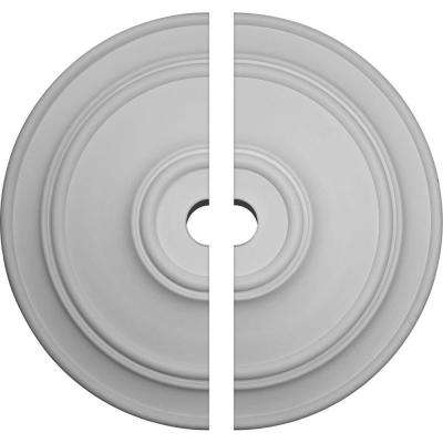 54 in. O.D. x 6 in. I.D. x 4-7/8 in. P Classic Ceiling Medallion (2-Piece)