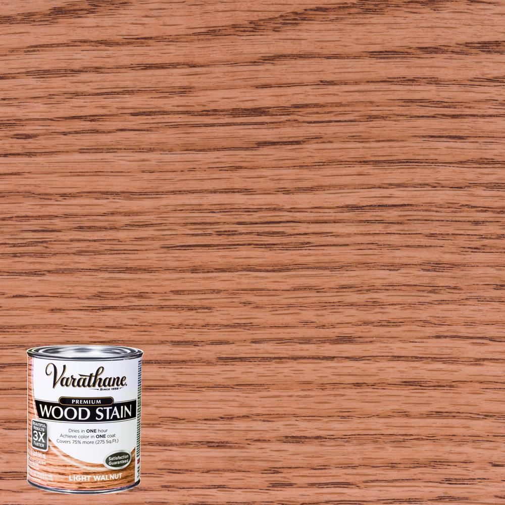 1 qt. Light Walnut Premium Fast Dry Interior Wood Stain (2-Pack)