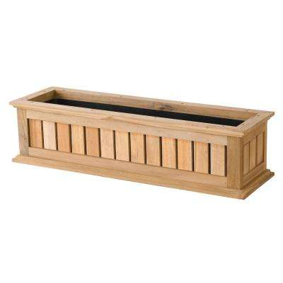 30 in. Natural Nantucket Wood Window Box