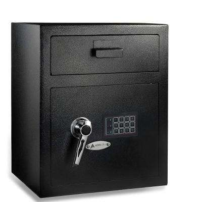 1.1 cu. ft. Steel Digital Depository Safe with Digital keypad, Black