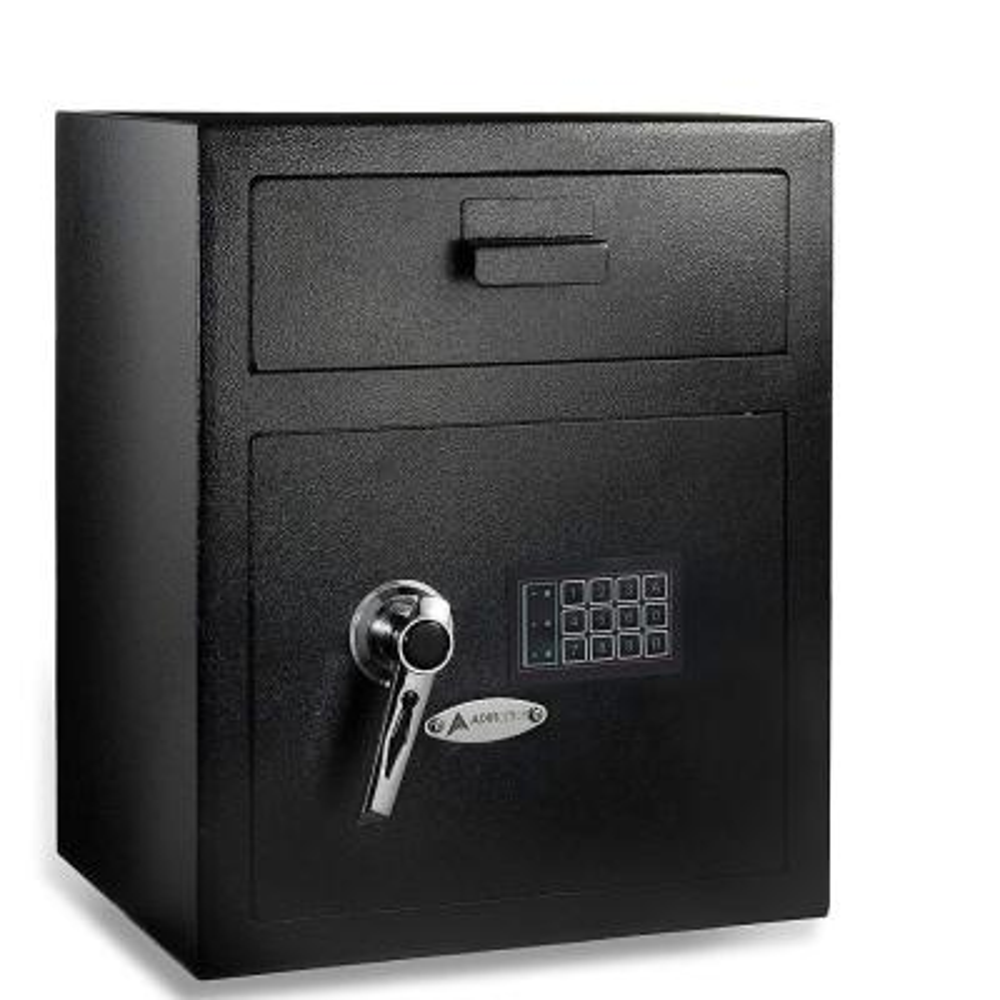 1.1 cu. ft. Steel Digital Depository Safe with Digital keypad, Black
