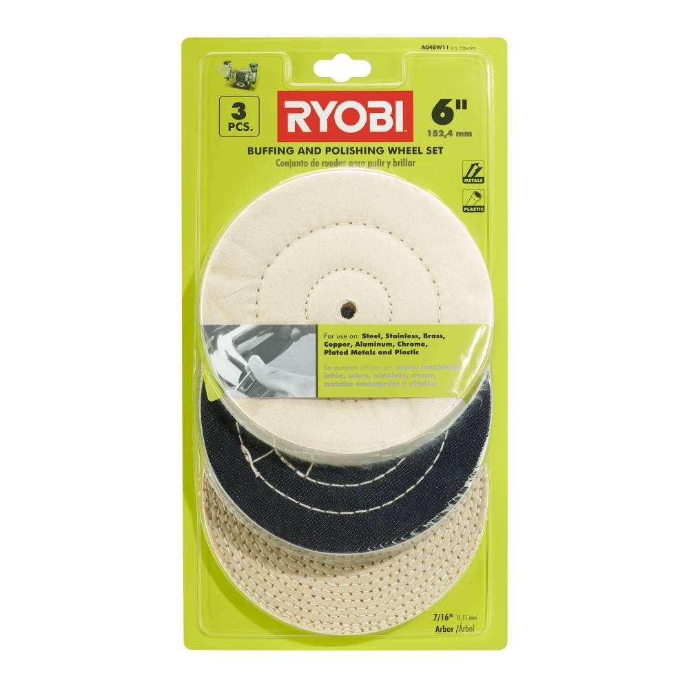 RYOBI 6 in  Buffing Wheel Set (3-Piece)
