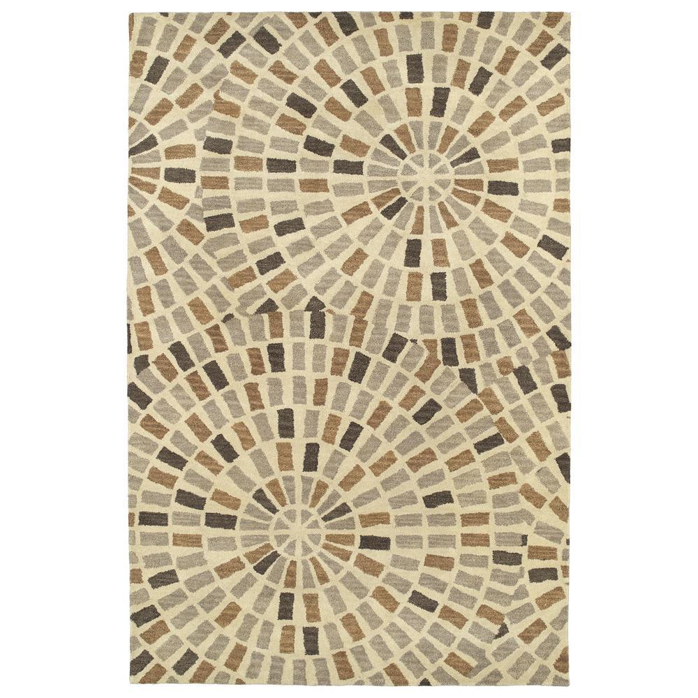 Art Tiles Brown 10 ft. x 13 ft. Area Rug