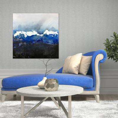 "30 in. x 30 in. ""Blue Nights"" by Jade Printed and Painted Canvas Wall Art"