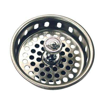 3-3/4 in. Basket Strainer with Drop Center Post