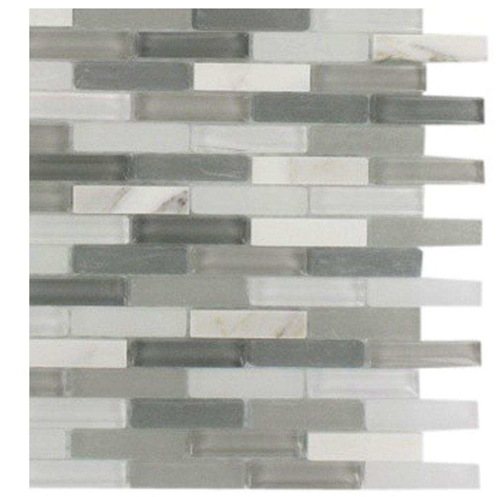 Splashback Tile Cleveland Severn Mini Brick 3 in. x 6 in. x 8 mm Mixed Materials Mosaic Floor and Wall Tile Sample