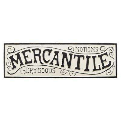White Metal Novelty Sign- Mercantile