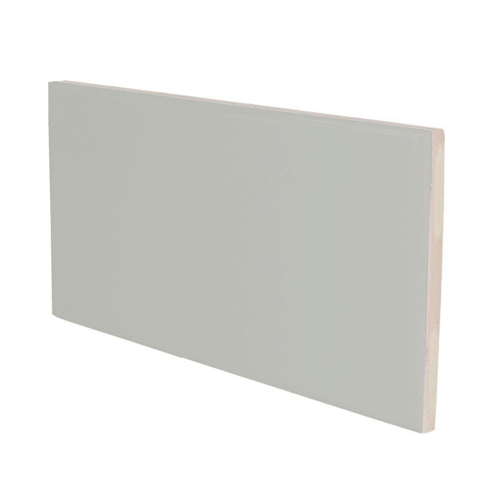 U.S. Ceramic Tile Color Collection Bright Taupe 3 in. x 6 in. Ceramic Surface Bullnose Wall Tile-DISCONTINUED