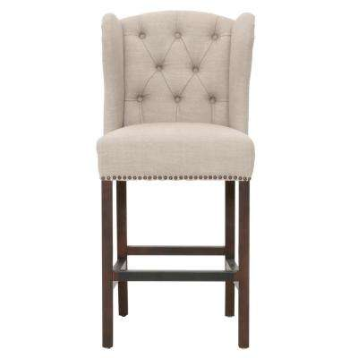 Maison 26 in. Birch Fabric, Espresso Counter Stool