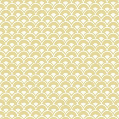 56 sq. ft. Stacked Scallops Wallpaper
