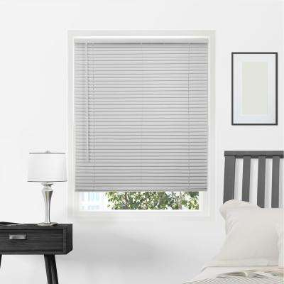 Gloss Gray Cordless 1 in. Vinyl Mini Blind - 58 in. W x 64 in. L