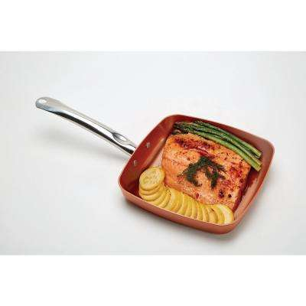 2-Peice Non-Stick Square Fry Pan Set