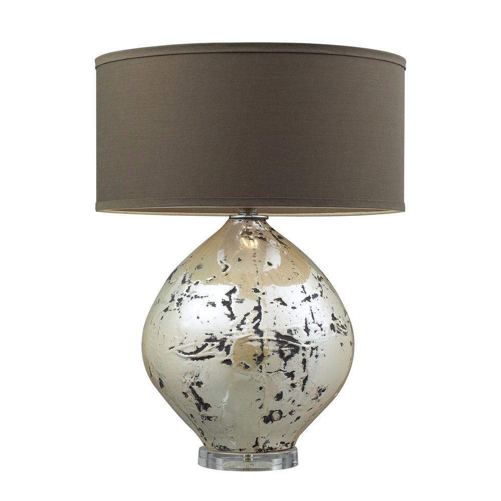 Ceiling Lights Limerick : Titan lighting limerick in turrit table lamp with brown linen shade tn the home depot