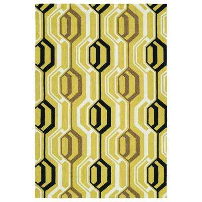 Escape Gold 9 ft. x 12 ft. Indoor/Outdoor Area Rug