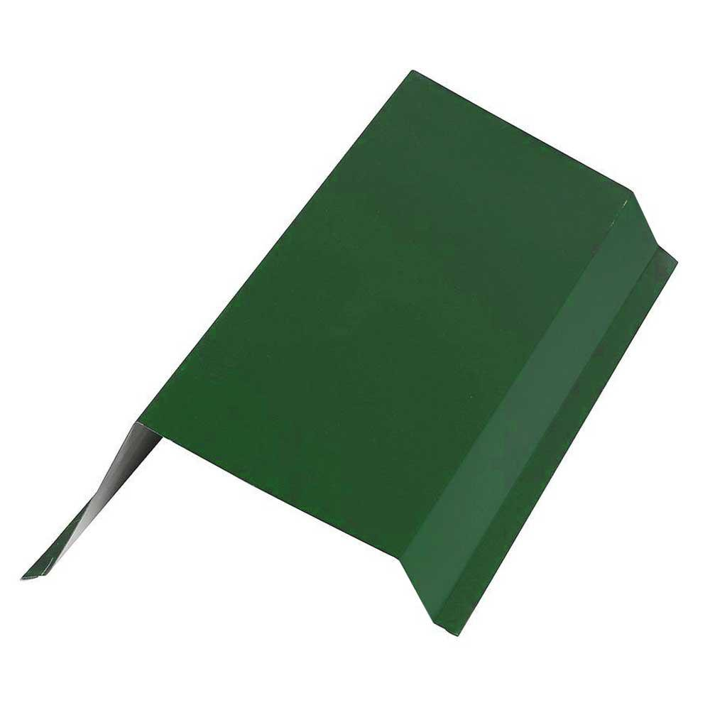 Construction Metals 6.5 in. x 10 ft. Galvanized 29-Gauge Steel Gable Rake Roof Flashing in Forest Green