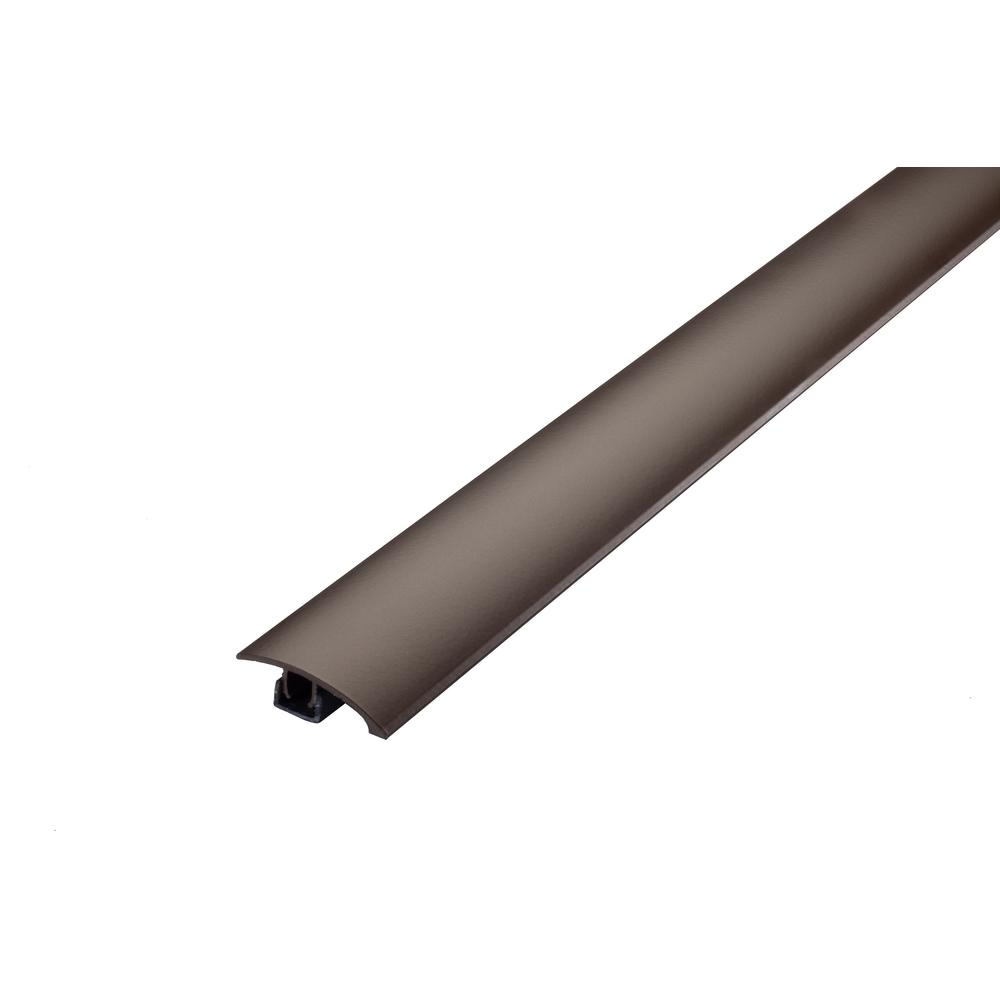Cinch M-D Building Products 1.75 in. x 36 in. Forest Brown Multi-Purpose Reducer for Uneven Floors with Snap Track