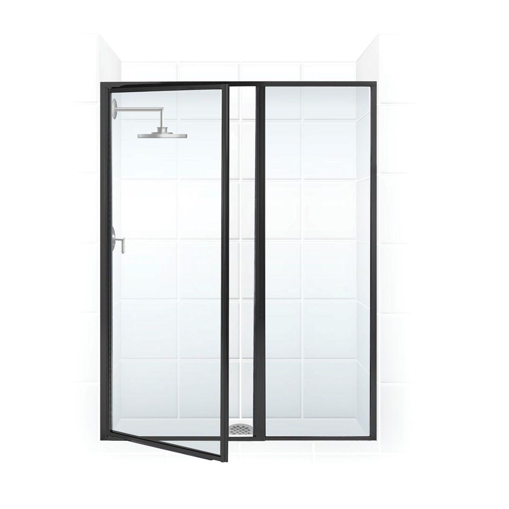 Coastal Shower Doors Legend Series 40 in. x 69 in. Framed Hinged Shower Door with Inline Panel in Oil Rubbed Bronze with Clear Glass
