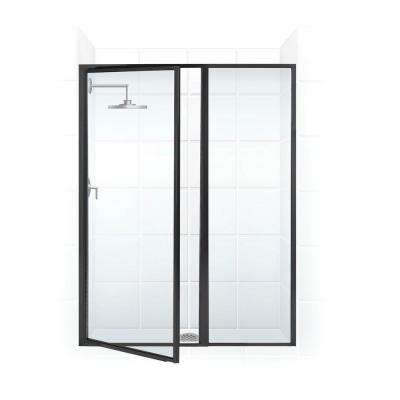 Legend Series 41 in. x 69 in. Framed Hinged Shower Door with Inline Panel in Oil Rubbed Bronze with Clear Glass