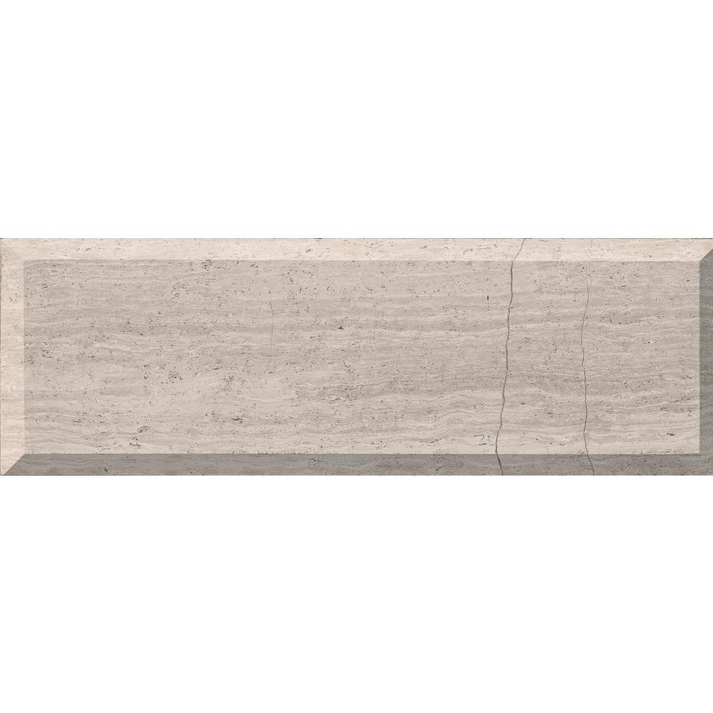 - White Oak Gray Marble Stone Mosaic Tile Textured Herringbone
