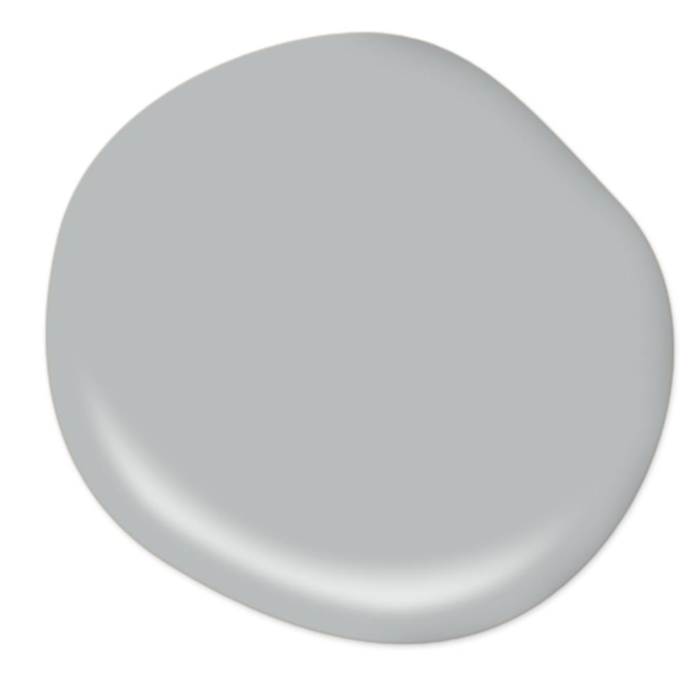 Behr French Silver paint color is a lovely velvety light blue-grey. #paintcolors #behrfrenchsilver #bluegrey #greypaintcolors