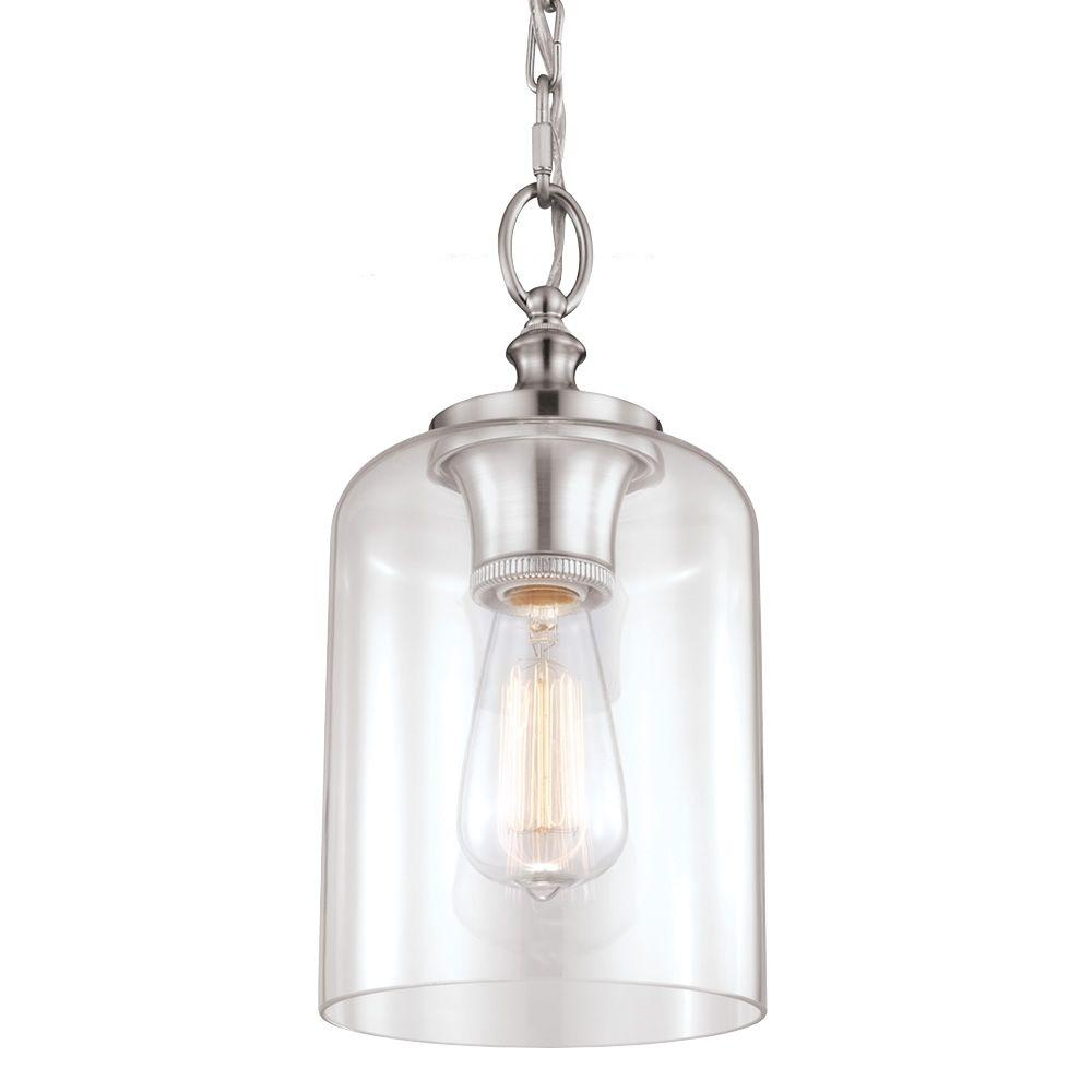 Feiss Hounslow 1-Light Brushed Steel Mini Pendant