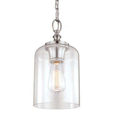 Hounslow 1-Light Brushed Steel Mini Pendant