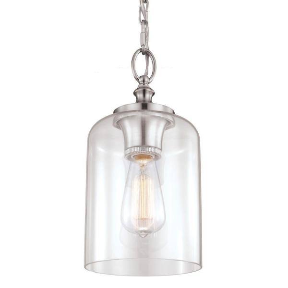Hounslow 1-Light Brushed Steel Mini Pendant