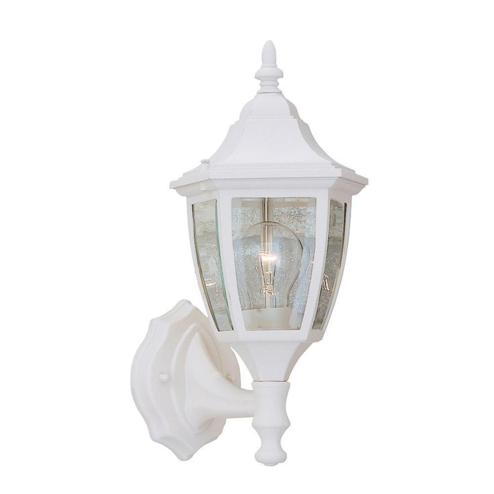 Waterbury Collection White Outdoor Wall-Mount Lantern