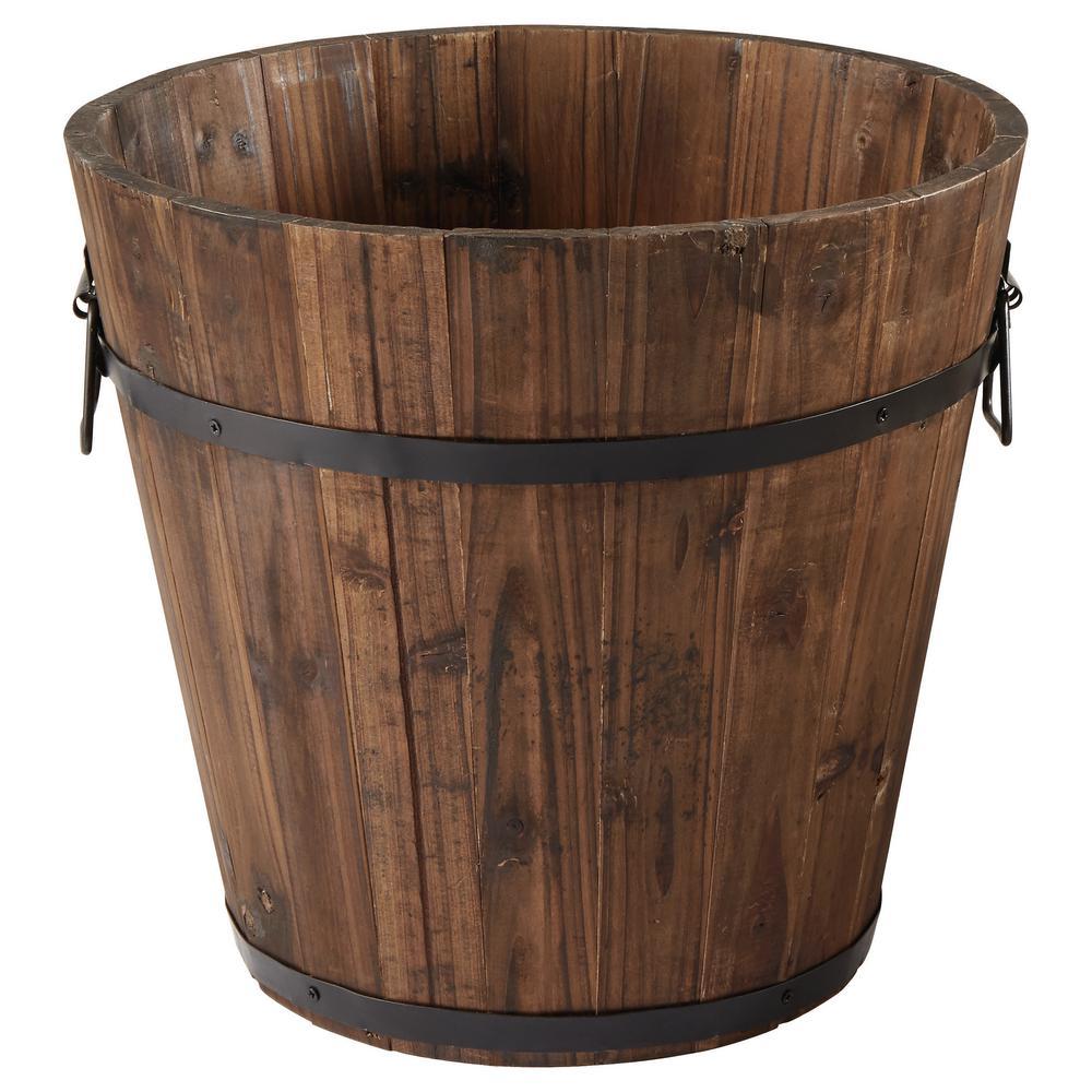 14 in. Dark Flame Wood Bucket