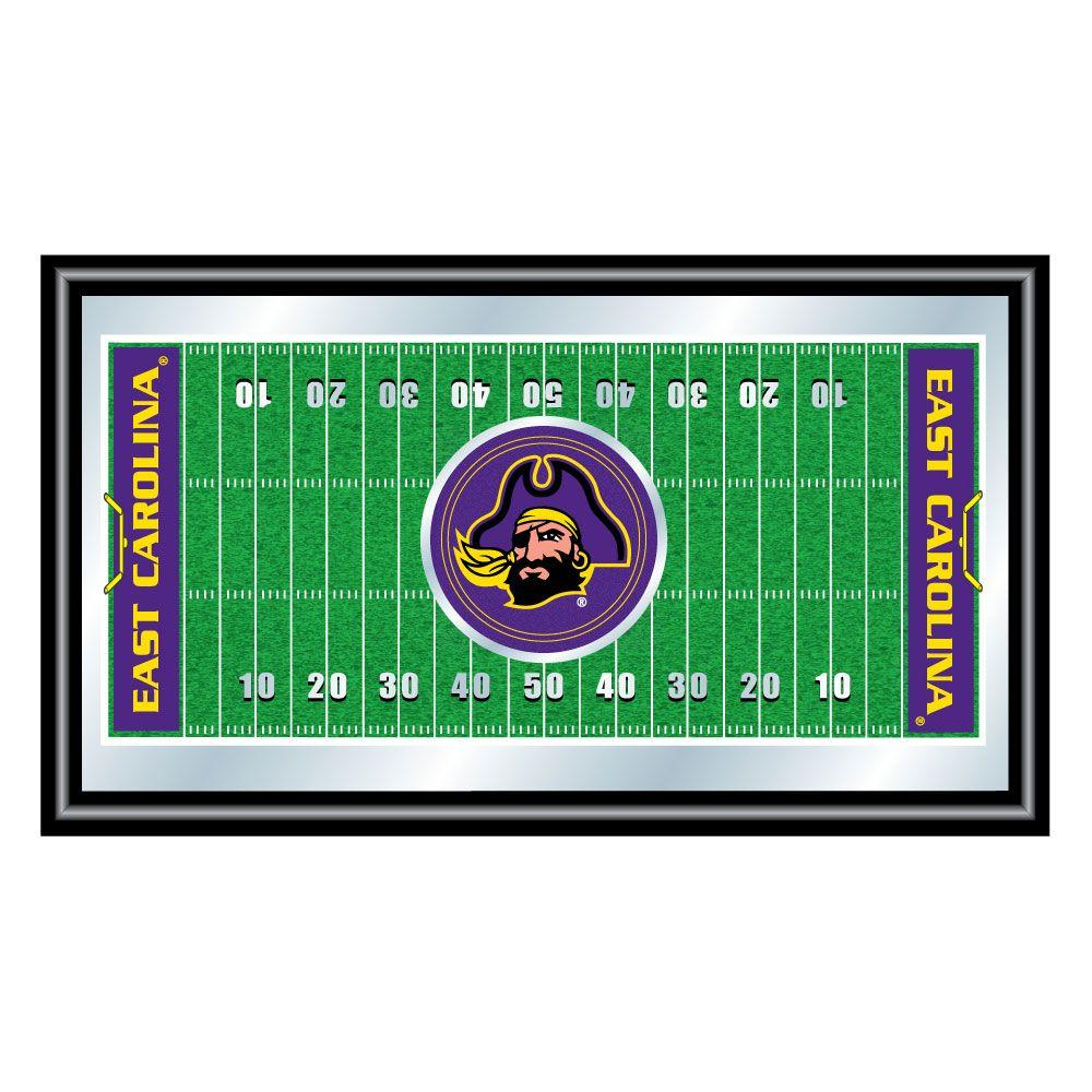 East Carolina University Football 15 in. x 26 in. Black Wood