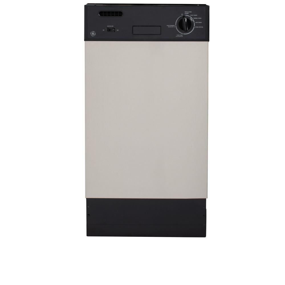 GE 19 in. Front Control Dishwasher in Stainless Steel with Stainless Steel Tub