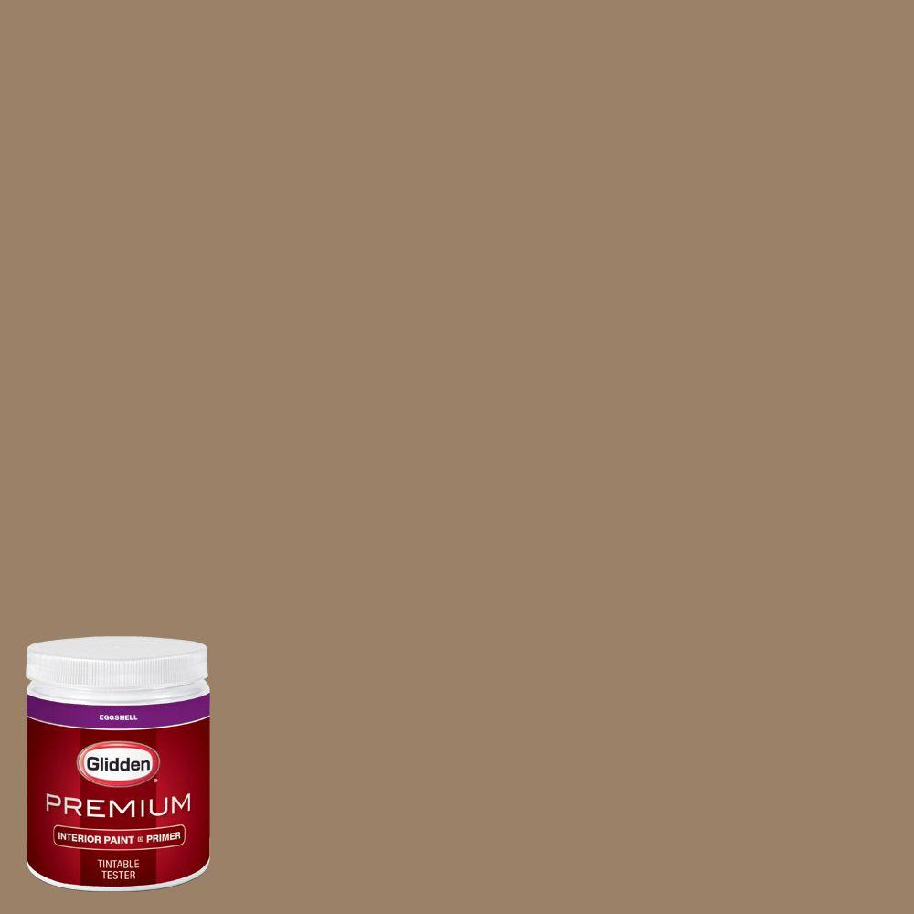 Interior Paint Colors Home Depot: Glidden Premium 8 Oz. #HDGY13U Canvasback Brown Eggshell