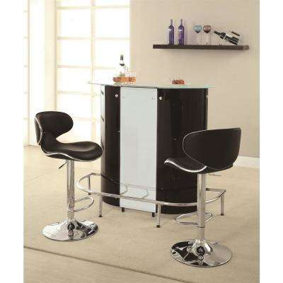 Contemporary Black And White Acrylic Bar Unit