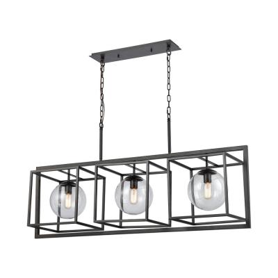 Beam Cage 3-Light Oil Rubbed Bronze Island Pendant