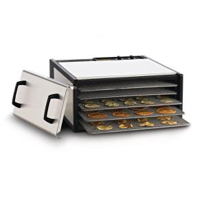 Click here to buy Excalibur Heavy Duty 5-Tray Food Dehydrator by Excalibur.