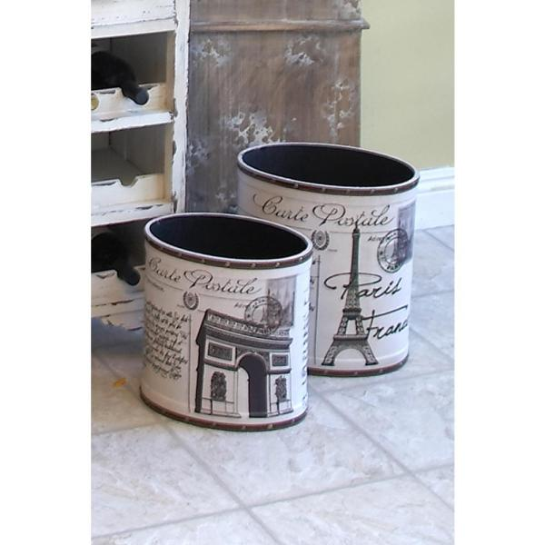 Decoration Carte Postale.Carte Postale Set Of Two 14 In And 12 In Utility Baskets