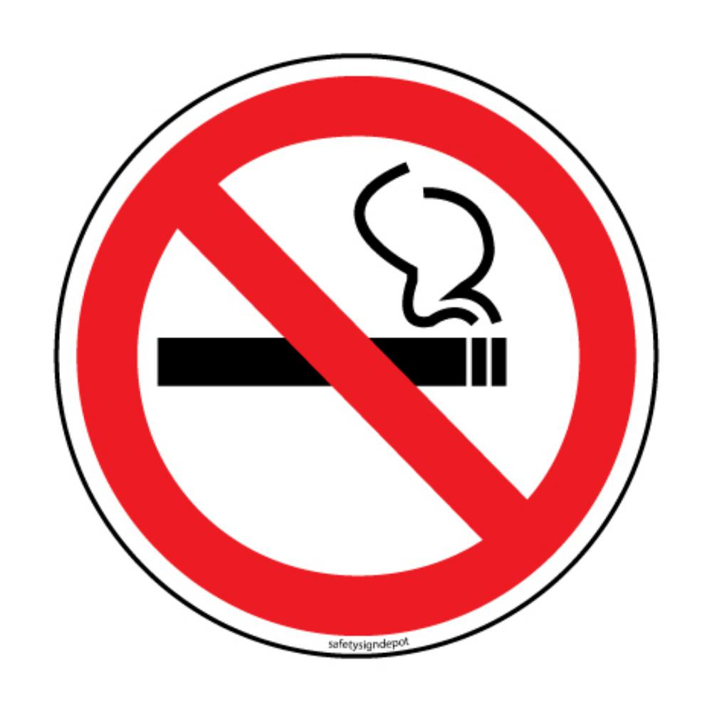 Promodor no smoking stickers 6 in circular vinyl decals 4 pack