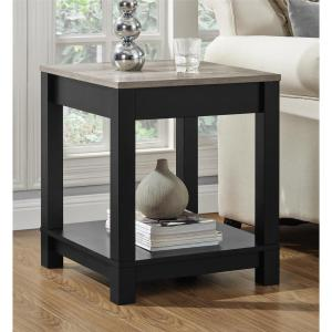 Altra Furniture Carver Matte Black Storage End Table by Altra Furniture