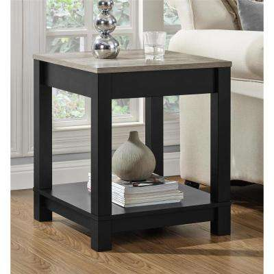 Carver Matte Black Storage End Table