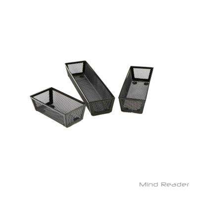 Thin Mesh Organizer, Black (3-Piece)