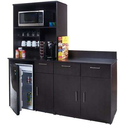 Coffee Kitchen Espresso Sideboard with Lunch Break Room Functionality with Assembled Commercial Grade 3417
