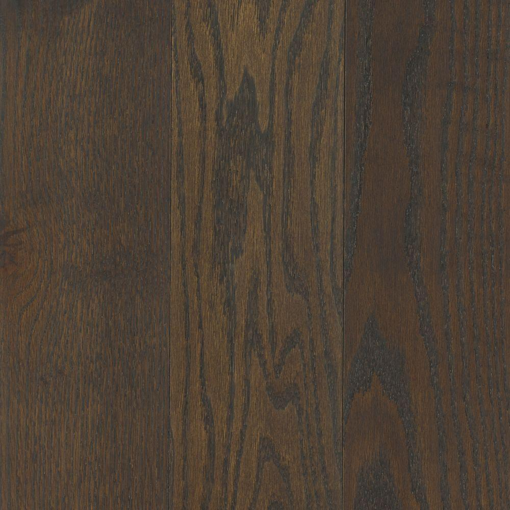 Mohawk Take Home Sample Arlington Wrought Iron Oak Solid Hardwood Flooring 5 In