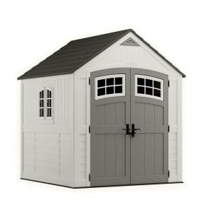 Suncast Cascade 7 ft. 3 inch x 7 ft. 4.5 inch Resin Storage Shed by Suncast