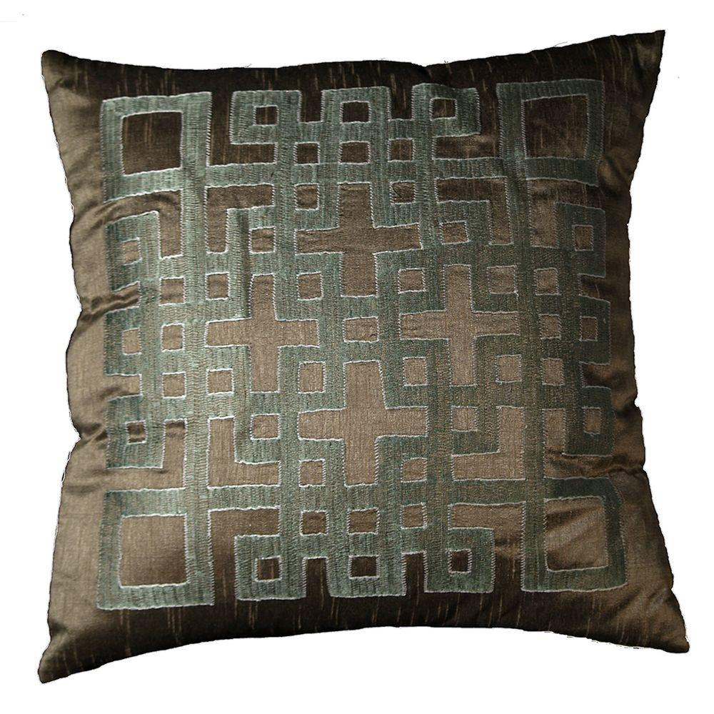 LR Resources Contemporary Ando Mole 18 in. x 18 in. Square Decorative Accent Pillow (2-Pack)