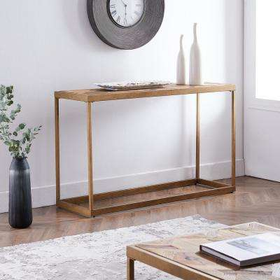 Silva Natural Reclaimed Wood Patchwork Console Table