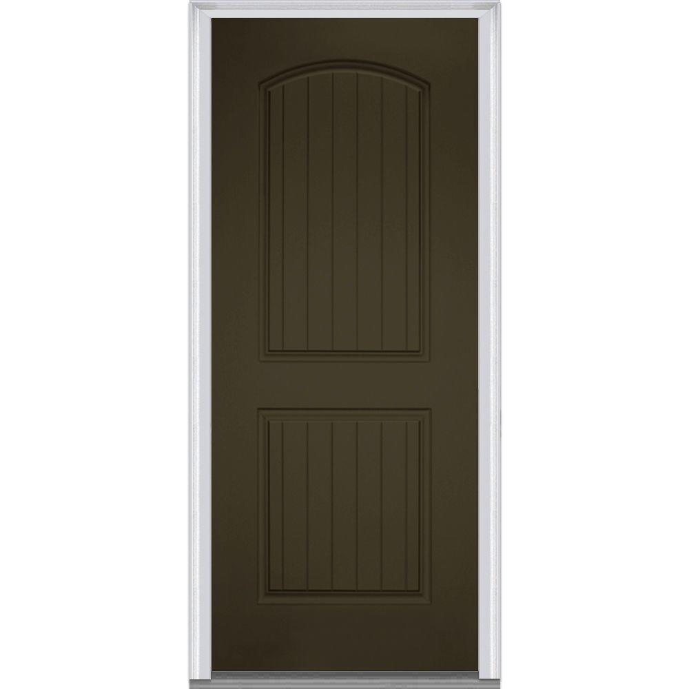 Bronze Fiberglass Doors Front Doors The Home Depot