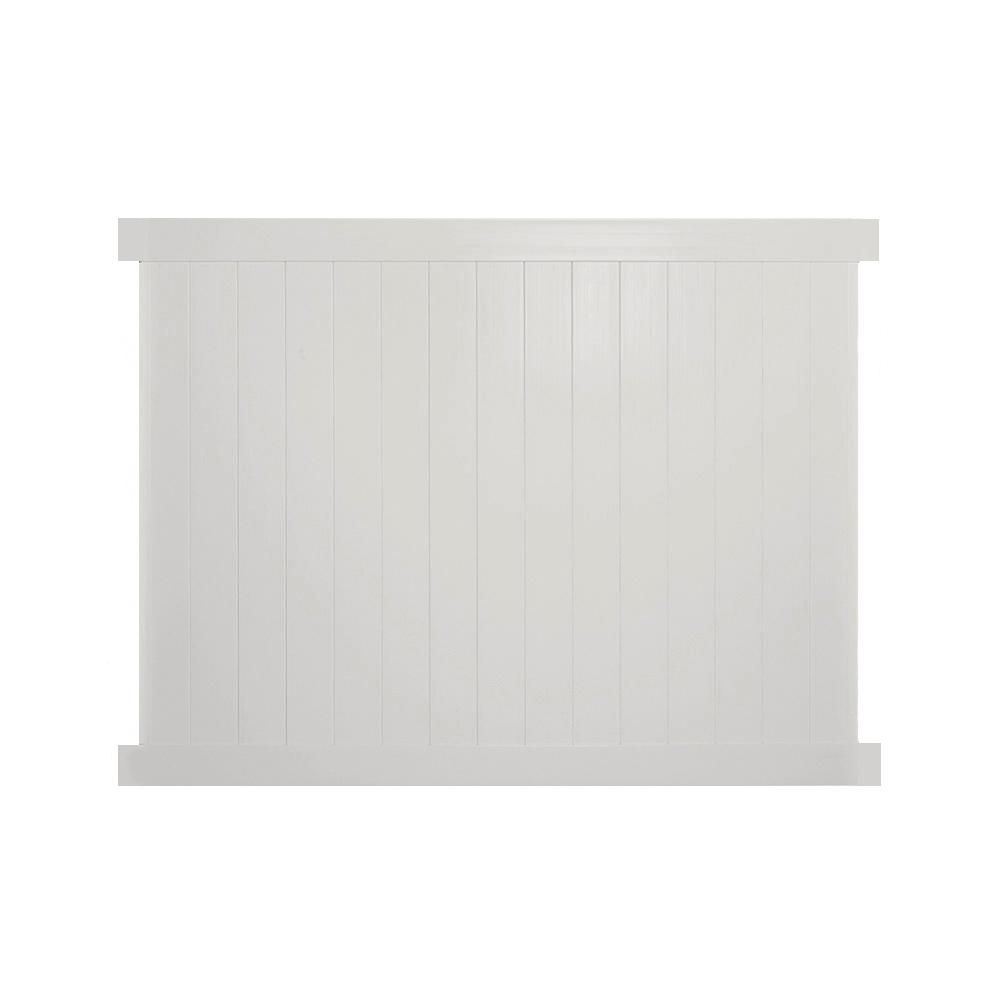 Savannah 6 ft. H x 8 ft. W Tan Vinyl Privacy Fence Panel