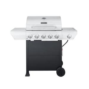 Nexgrill 5-Burner Propane Gas Grill in Stainless Steel with Side Burner and Black Cabinet by Nexgrill