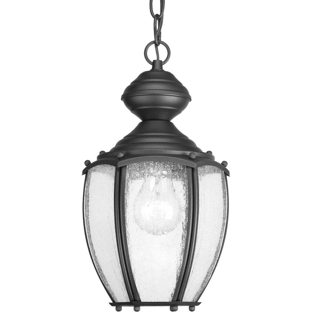 Roman Coach Collection 1-Light Outdoor Black Hanging Lantern