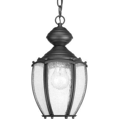 Roman Coach Collection 1-Light Outdoor Black Hanging Lantern